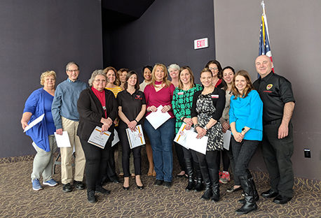 2015-2018 APAS Executive Committee and Negotiations Team members after receiving recognition certificates